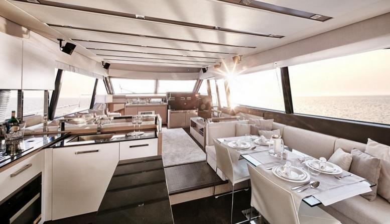 Intérieur bateau yacht